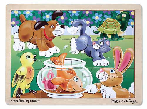 Melissa & Doug Playful Pets Jigsaw Puzzle 12 pc
