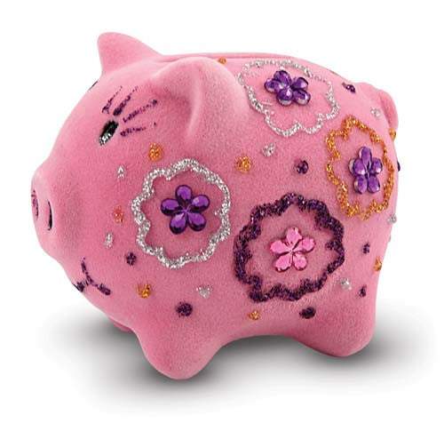 Melissa & Doug Decorate Your Own Fuzzy Piggy Bank