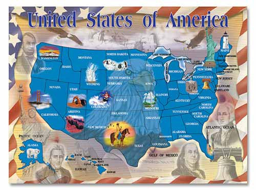 500 pc Map of the USA Jigsaw Puzzle