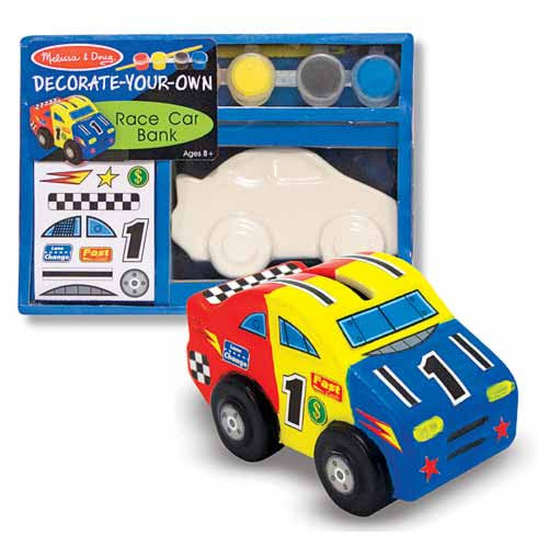 Melissa & Doug Decorate Your Own Race Car Bank