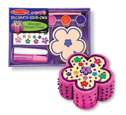 Melissa & Doug Decorate Your Own Wooden Flower Chest