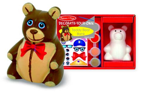 Melissa & Doug Decorate Your Own Teddy Bear Bank