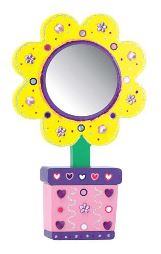 Melissa & Doug Decorate Your Own  Flower Mirror