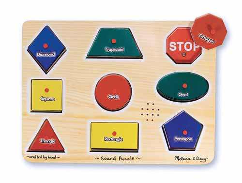 Melissa & Doug Shapes Sound Puzzle