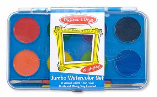 Jumbo Watercolor Paint Set, 8 colors