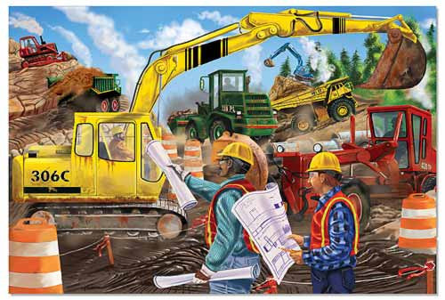 Melissa & Doug Construction 24 piece Floor Puzzle