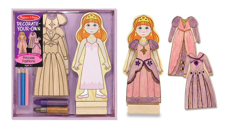 Melissa & Doug Do It Yourself Wooden Magnetic Princess Fashions