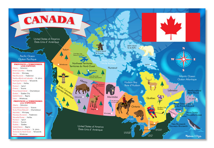 Canada Map Floor Puzzle 48 Pieces