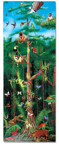 Melissa and Doug Rain Forest Floor Puzzle- 100pc