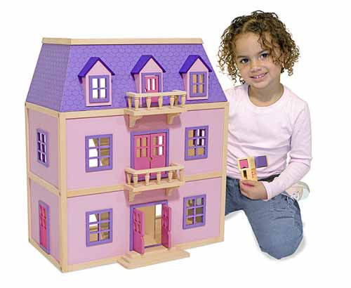 Melissa & Doug Multi Level Solid Wood Dollhouse