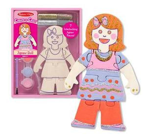 Decorate Your Own Jigsaw Doll