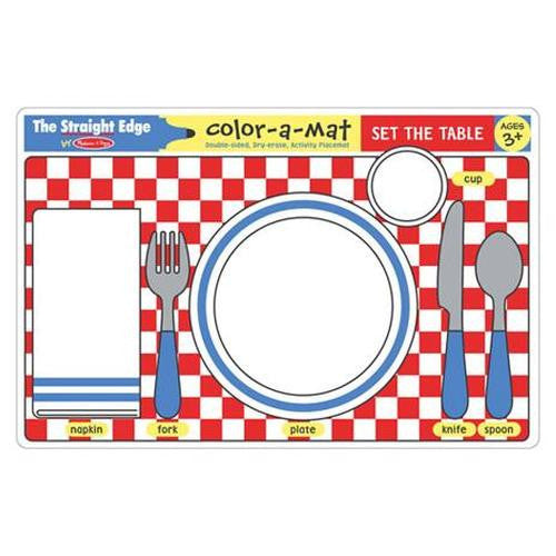Melissa & Doug write A Mat set the table
