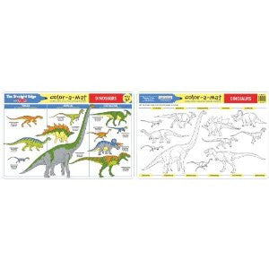 Dinosaurs Color A Mat Single