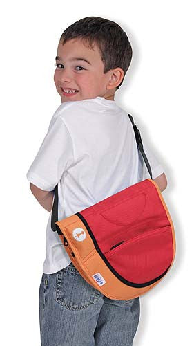 Melissa and Doug Trunki Saddlebag- Orange.Red