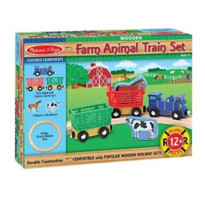 Melissa and Doug Farm Animals Train Set - Wooden