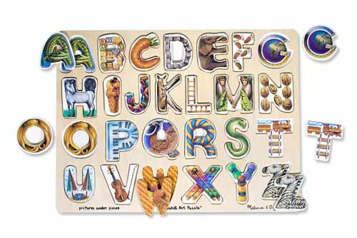 Melissa and Doug Alphabet Art Puzzle