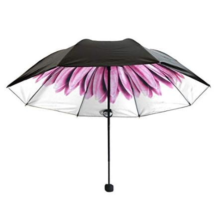 UV Protection Compact Umbrella Watercolors Collection Pink Flower
