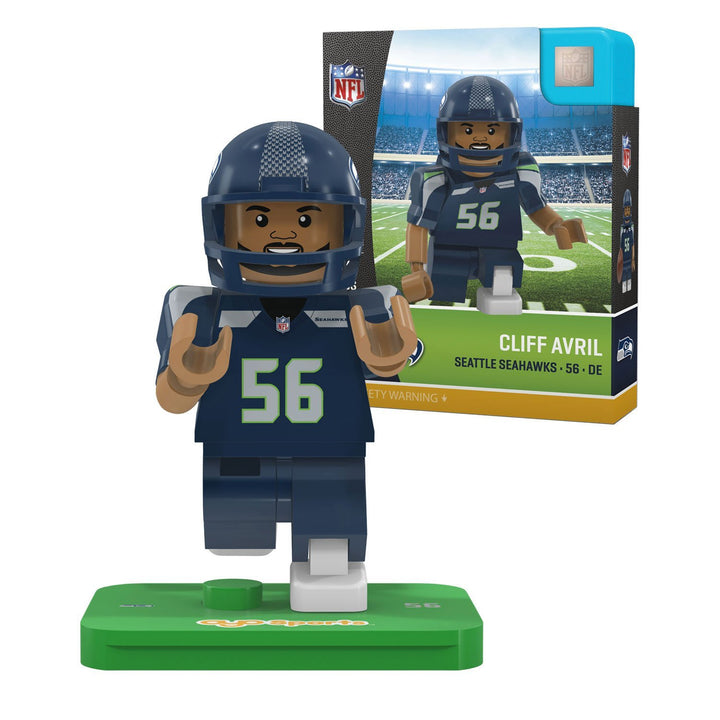 NFL Seattle Seahawks Gen4 Limited Edition Cliff Avril Mini Figure