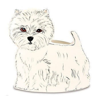 Dee Oh Gie West Highland White Terrier Dog Planter Vase 9.25