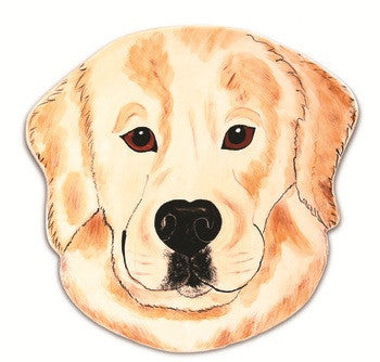 Darcy Golden Retriever Dog Plate 10.75