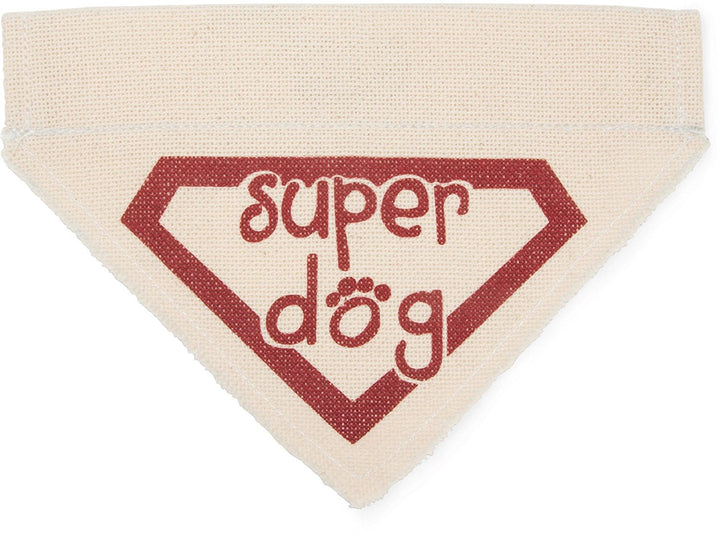 Super Dog Canvas Slip On Pet Bandanna