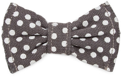 Small Polka Dots Canvas Bowtie