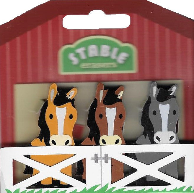 Horse Eraser Set, pack of 3 erasers - Freedom Day Sales