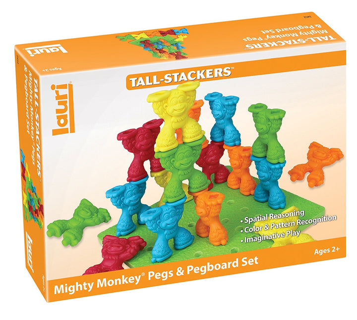 Lauri Tall Stackers Mighty Monkey Pegs and Pegboard Set