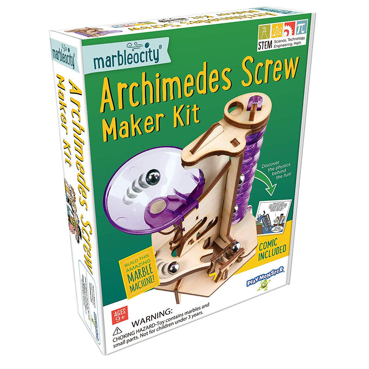 Marbleocity Archimedes Screw Maker Kit