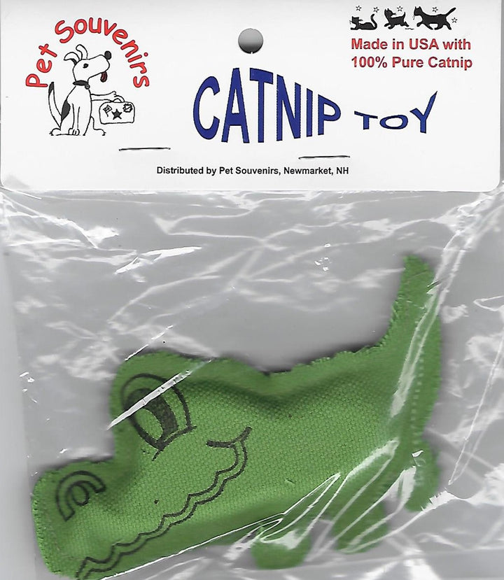Green Catnip Alligator Cat Toy