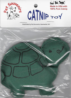 Green Catnip Turtle Cat Toy