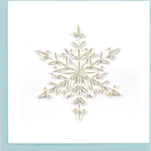 Quilling Card Snowflake Greeting Card
