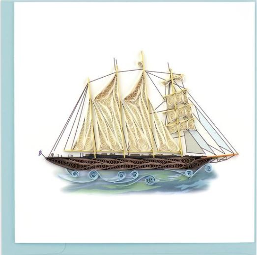 Quilling Card Schooner Greeting Card