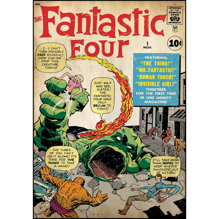 Fantastic Four Issue #1 Comic Cover Giant Wall Decal