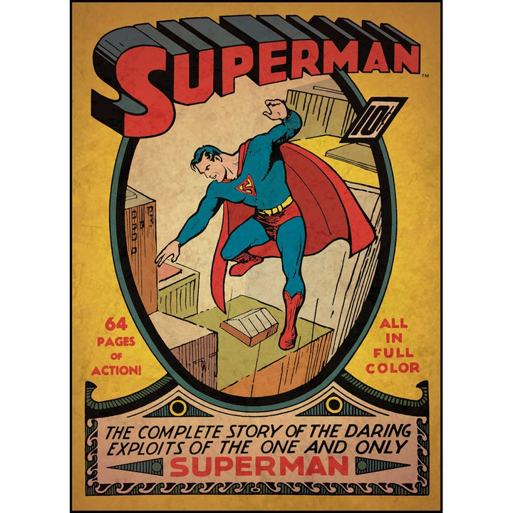 Superman Issue #1 Comic Cover Giant Wall Decal