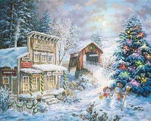 Country Christmas Store 1000 Piece Puzzle
