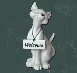 Camillia the Welcome Cat Fountasia Resin Sculpture