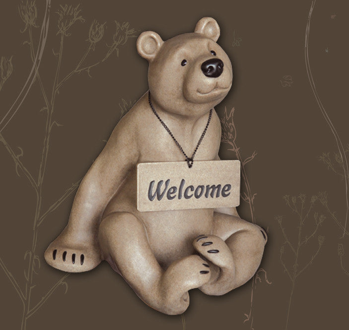 Bernie Bear Welcome Resin Statuary