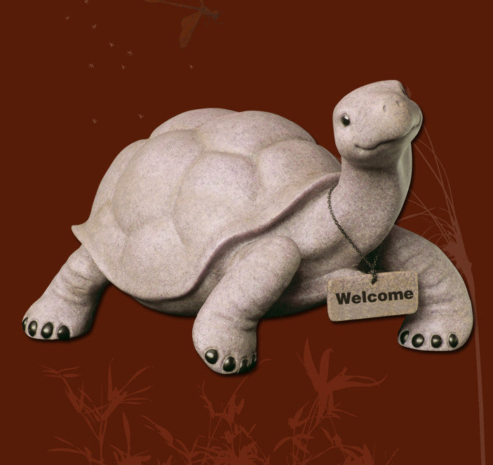 Tommy the Turtle Fountasia Resin Sculpture