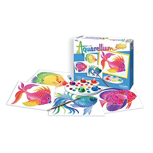 Aquellium Junior- 4 Canvases-Fish