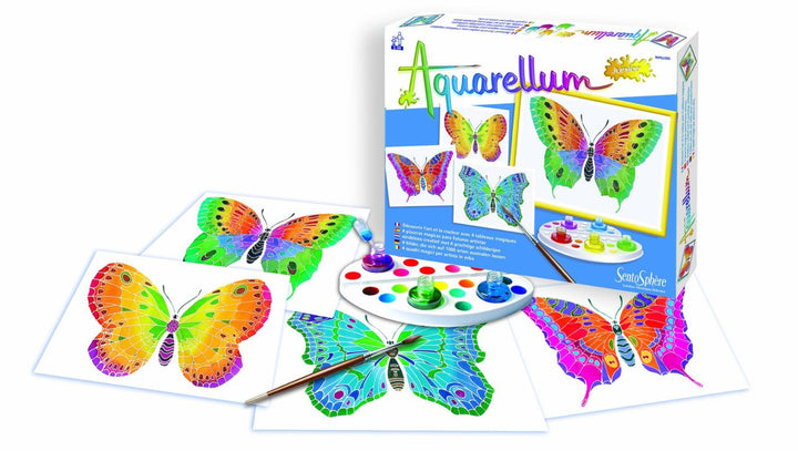 Aquarellum Junior-4 canvases-Butterflies