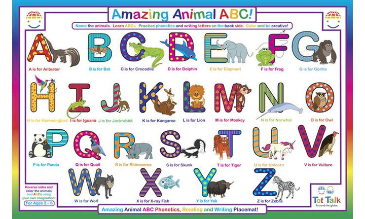 ABC Animals Placemat