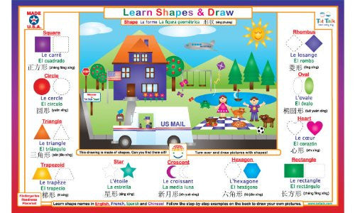 Learn Shapes & Draw Placemat