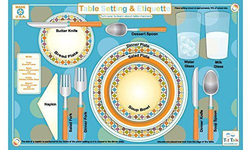 Table Setting & Etiquette Placemat