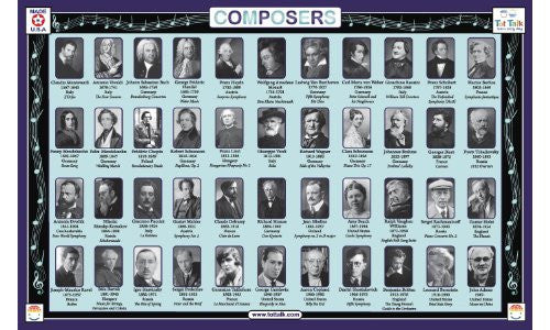 Composers Placemat
