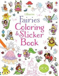 Usborne Fairies Coloring and Sticker Book Paperback