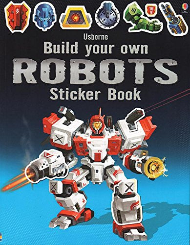 Build Your Own Robots Sticker Book Paperback