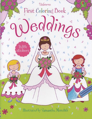 Weddings Coloring Book with Stickers