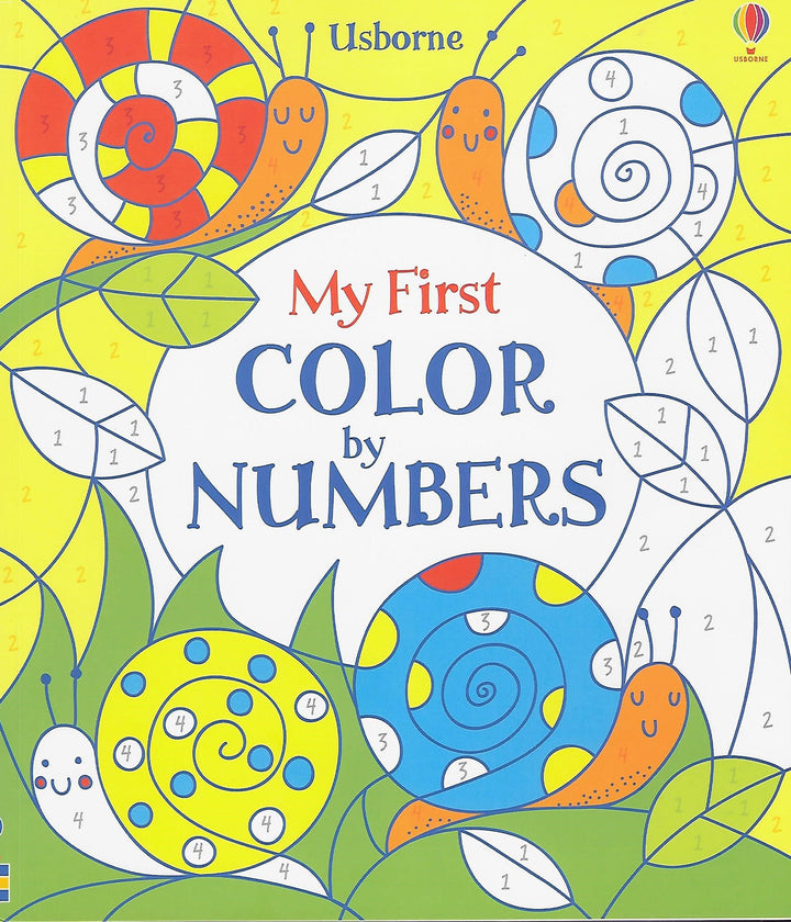 My First Color by Numbers Coloring Book