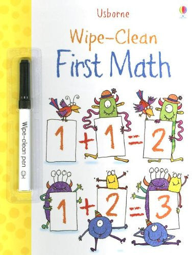 First Math Wipe Clean